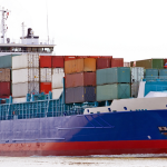 Shoe are imported from CHina in huge Container ships