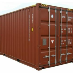 The half size 20 foot shipping container