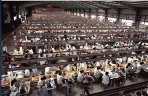How shoes are made Stitching department, shoe manufacturing process flow char