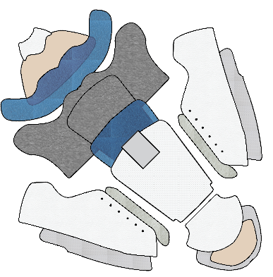 How to make a flat pattern parts of a shoe names
