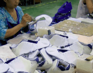 Shoe sticking process how to make shoes