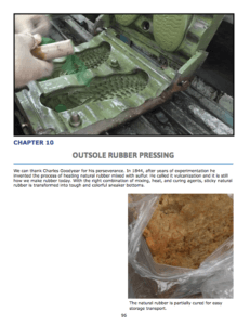 Chapter 10 : outSOle Rubber Pressing Mixing rubber materials Rubber molds and pressing