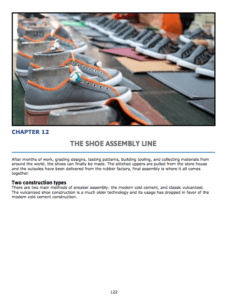 Chapter 12 : The shoe Assembly Line Cold cement shoe construction Vulcanized shoe construction