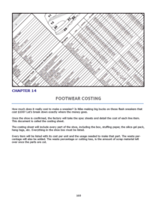 Chapter 14 : Footwear Costing Where does the money go? Reading a factory cost sheet