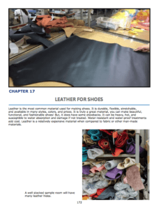Chapter 16 :Leather for Shoes Leather basics Common leather for shoes