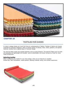 Chapter 17 : Textiles for Shoes Fabric weaves Backing and surface treatments