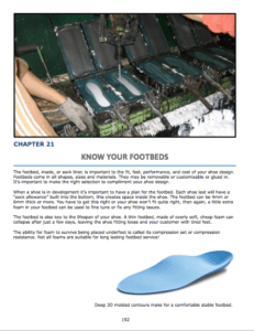 Chapter 20 : Know Your Footbeds Footbed parts Material types for shoes