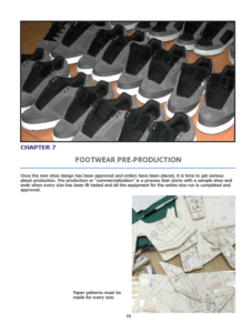 Chapter 7 : Footwear Pre-Production Production size grade Production cutting equipment
