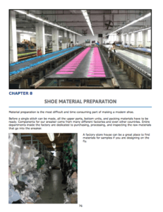 Chapter 8 : SHOE Material Preparation Material cutting Logo printing and preparations