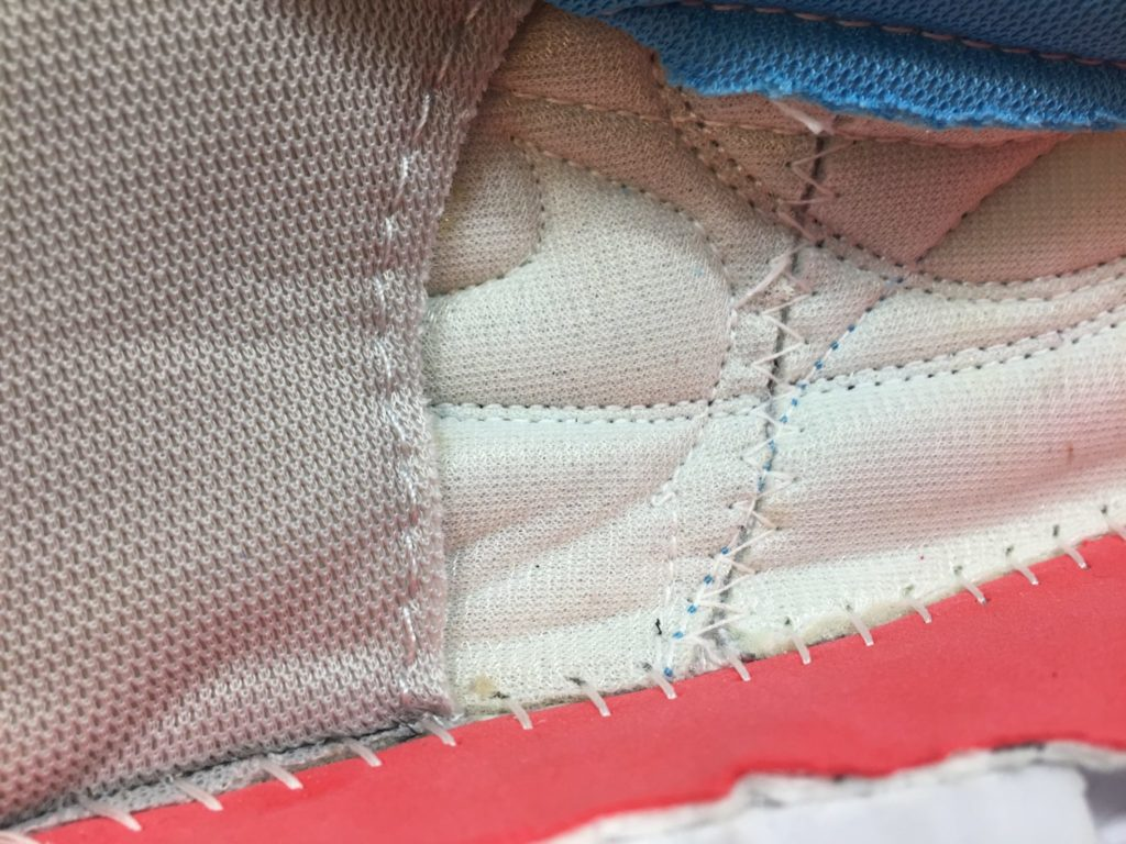 Strobel Stitching inside a Nike PG 2.5 shoe