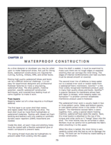 Waterproof constructions  An overview of waterproof construction techniques.