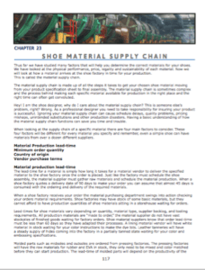 Shoe material supply chain  The challenges of sourcing footwear materials.