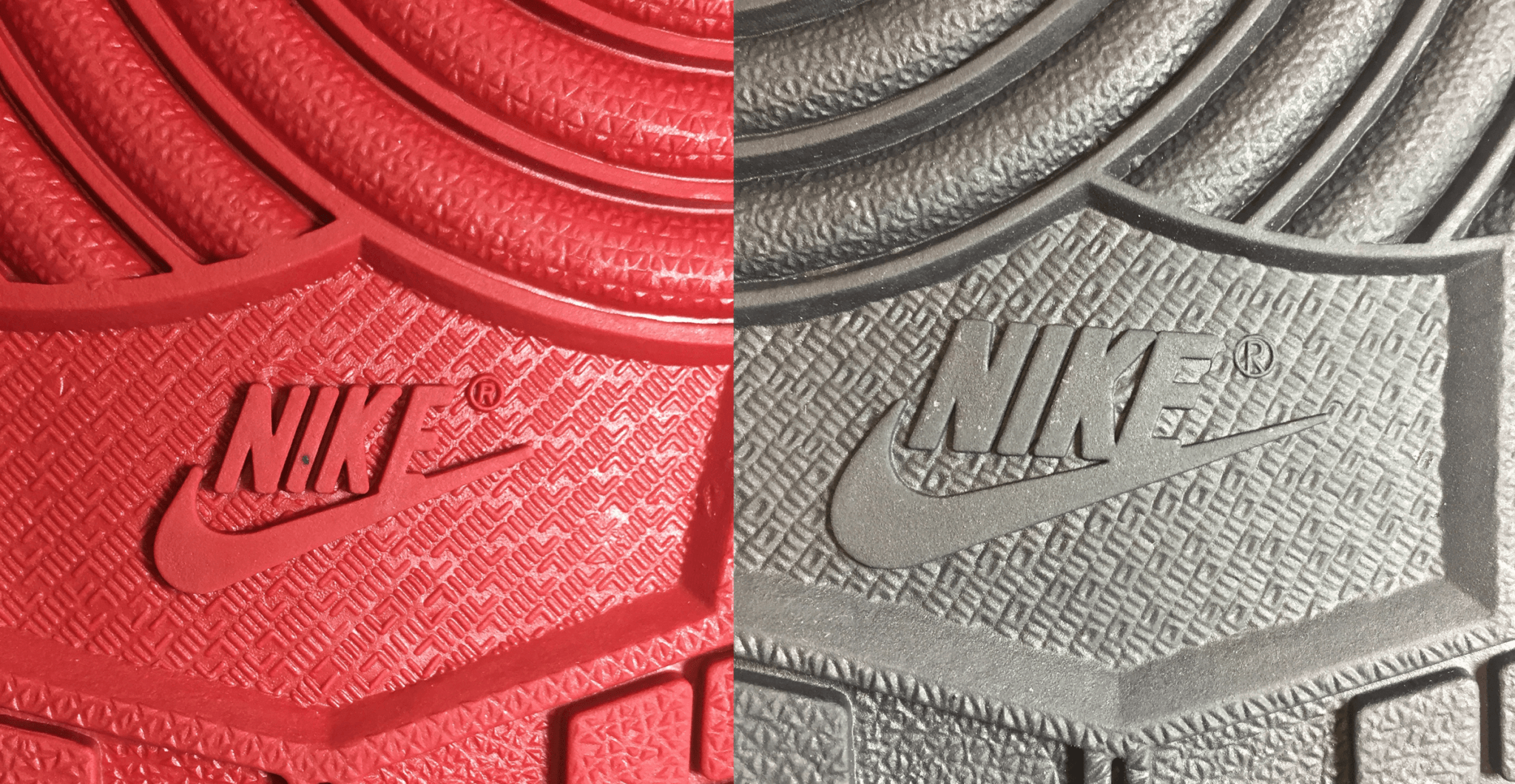 Sole on Fake NIke shoe