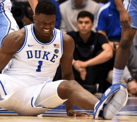 injured Duke star Zion Williamson