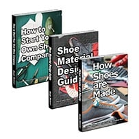 """How Shoes are Made"", 220 pages ""Shoe Material Design Guide"", 195 pages ""How to Start Your Own Shoe Company"", 170 pages"