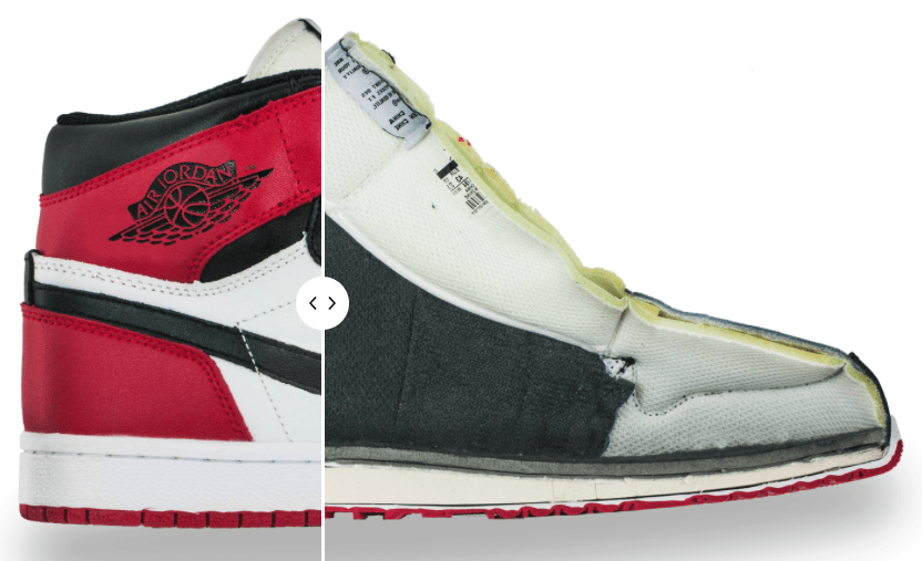 see Inside a Fake air Jordan 1